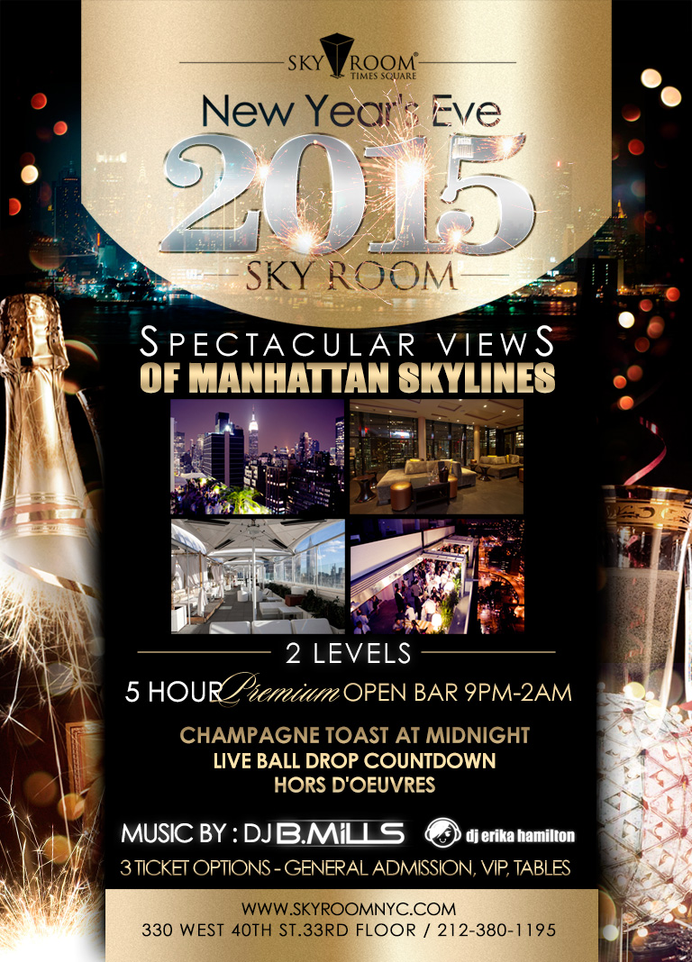Sky Room Times Square New Year S Eve 2015 At Sky Room